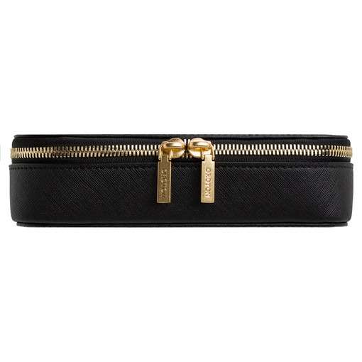 Oroton Maud Jewellery Case And Pouch in Black and Saffiano for female