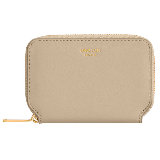 Oroton Mila 7 Credit Card Zip Wallet in Flint and Smooth Leather for female