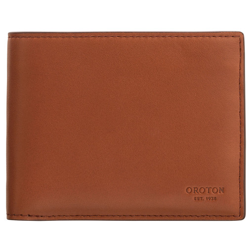 Oroton Leo 8 Credit Card Wallet in Whiskey and Smooth Leather for male