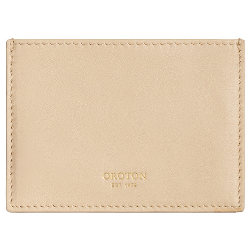 Oroton Yvette 3 Credit Card Sleeve in Light Sand and Smooth Leather for female