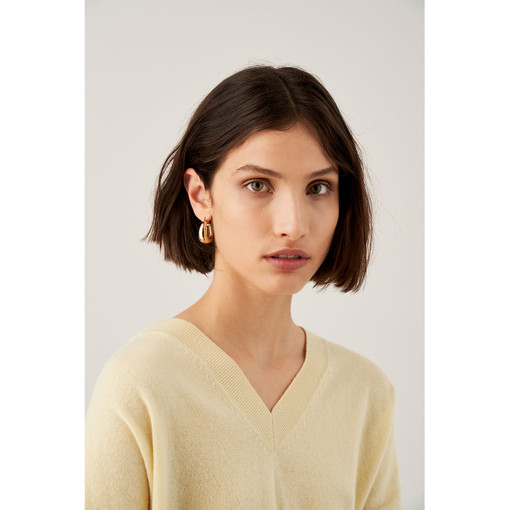 Oroton Emaille Chunky Hoops in Gold and Brass Based With Precious Metal Plating for female
