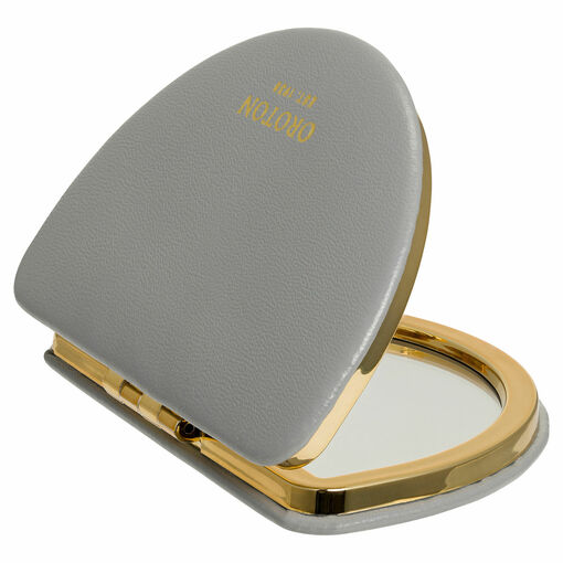 Oroton Olivia Compact Mirror in Quartz and Smooth PU for female