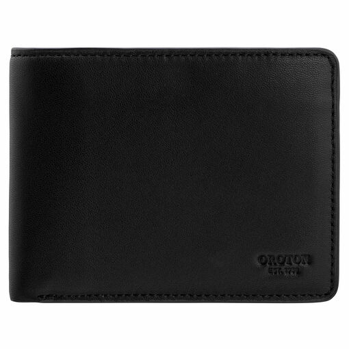 Oroton Oliver 12 Credit Card Wallet in Black and Smooth Nappa Leather for male