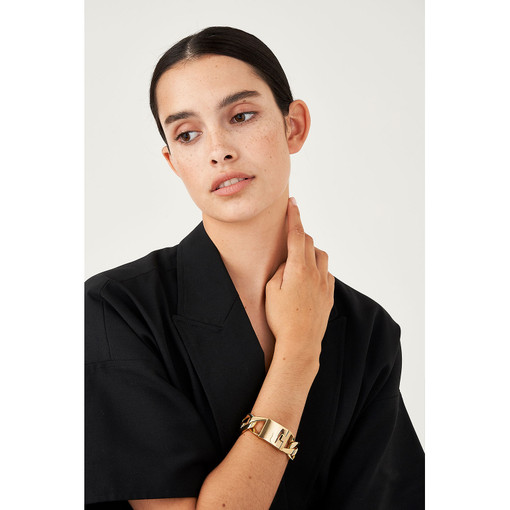 Oroton Aubrey Bracelet in Gold and Brass Base Metal With Precious Metal Plating for female