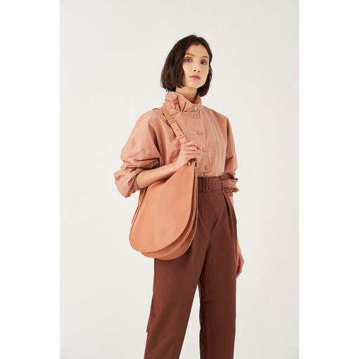 Oroton Lyla Hobo in Treacle and Pebble Leather for female