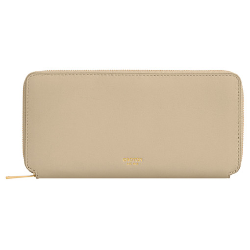Oroton Mila Slim Book Wallet in Flint and Smooth Leather for female