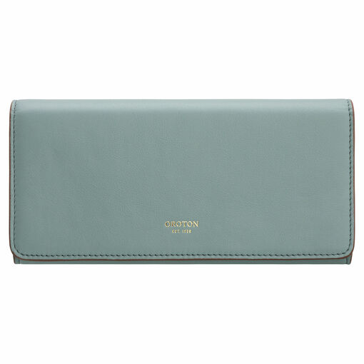 Oroton Elena Large Fold Wallet in Dark Teal and Smooth Leather for female