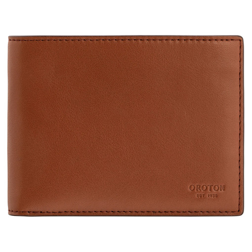Oroton Leo 12 Credit Card Wallet in Whiskey and Smooth Leather for male