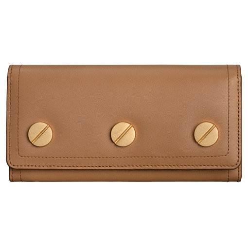 Oroton Bay Large Fold Wallet in Dark Rye and Smooth Leather for female