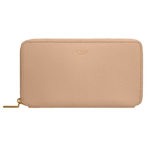Oroton Duo Book Wallet in Latte and Pebble Leather for female
