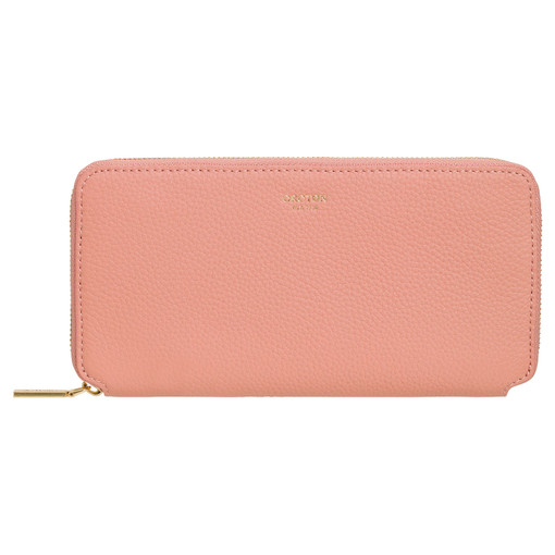 Oroton Margot Medium Zip Wallet in Rosewood and Pebble Leather for female