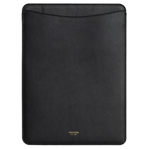 Oroton Mila IPad Sleeve in Black and Smooth Leather for female