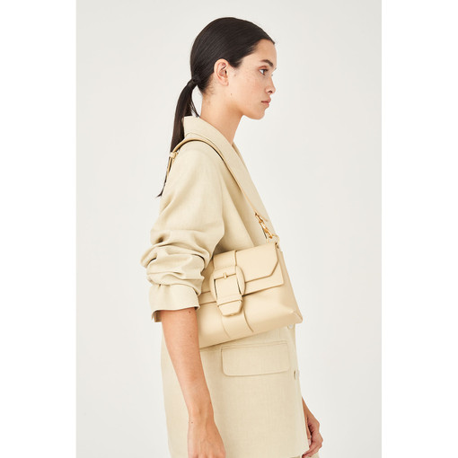 Oroton Frida Medium Satchel in Light Sand and Smooth Leather for female