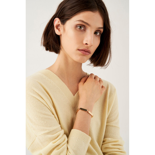Oroton Nova Bracelet in Gold and Brass Based With Precious Metal Plating for female
