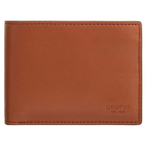 Oroton Leo 4 Credit Card Mini Wallet in Whiskey and Smooth Leather for male