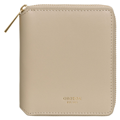 Oroton Isla Small Zip Wallet in Flint and Smooth Leather for female