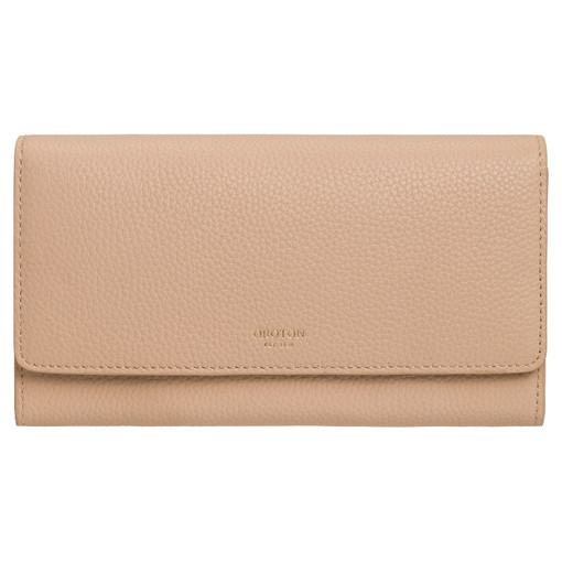 Oroton Duo Wallet And Pouch in Latte and Pebble Leather for female
