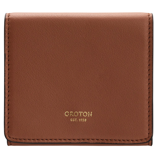 Oroton Elena Small Fold Wallet in Whiskey and Smooth Leather for female