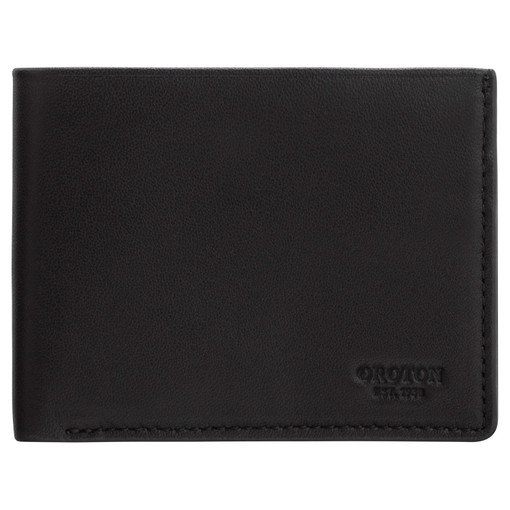 Oroton Oliver 4 Credit Card Mini Wallet in Black and Smooth Nappa Leather for male