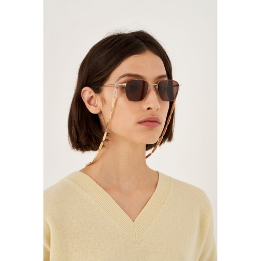 Oroton Nova Sunglasses Chain in Gold and Brass Based With Precious Metal Plating for female