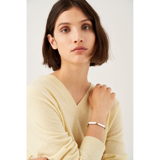 Oroton Nova Bracelet in Silver and Brass Based With Precious Metal Plating for female