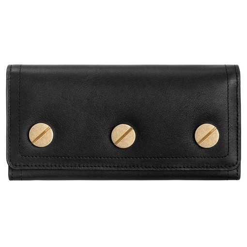 Oroton Bay Large Fold Wallet in Black and Smooth Leather for female