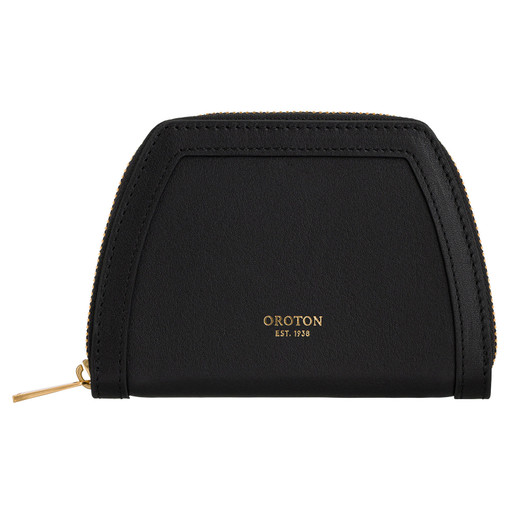 Oroton Camille Small Tapered Wallet in Black and Smooth Leather for female
