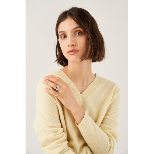 Oroton Emaille Triple Ring Set in Silver and Brass Based With Precious Metal Plating for female