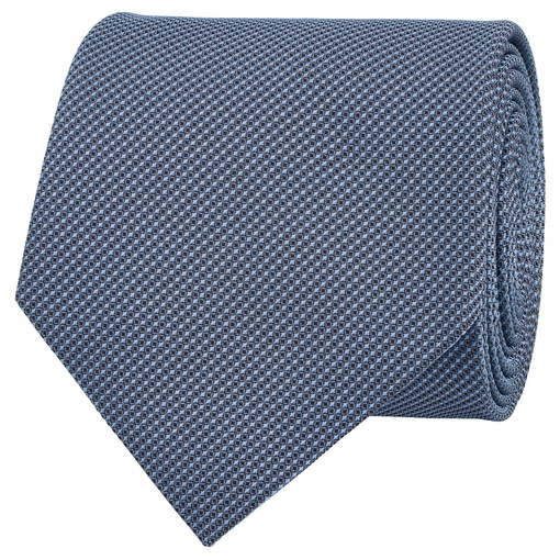 Oroton Tate Mini Texture Tie in Light Blue and 100% Silk for male