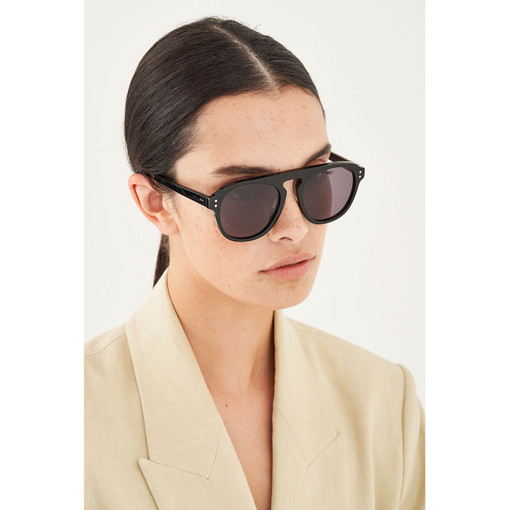Oroton Eugenie Sunglasses in Black/Green and Acetate for female