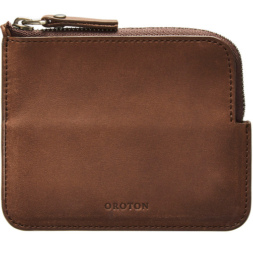 Oroton Rhodes Small Zip Wallet in Espresso and Casual Full Grain Leather for male