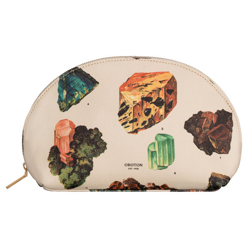 Oroton Venture Canvas Medium Beauty Case in Gemstone Print and Printed Canvas for female