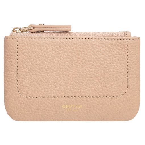 Oroton Lucy Coin Purse in Praline and Pebble Leather for female