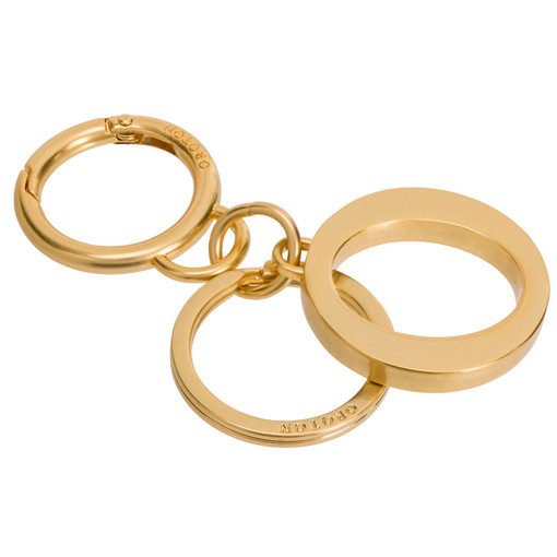 Oroton Signet O Keyring in Brass and Metal for female