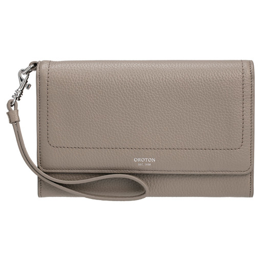 Oroton Lucy Clutch And Pouch in Stone and Pebble Leather for female