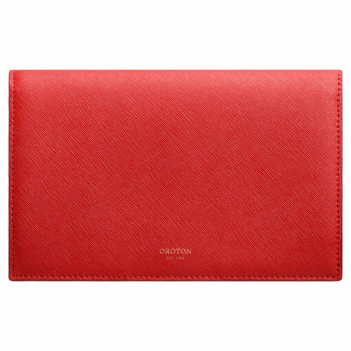 Oroton Maud Large Clutch Wallet in Poppy and Saffiano for female