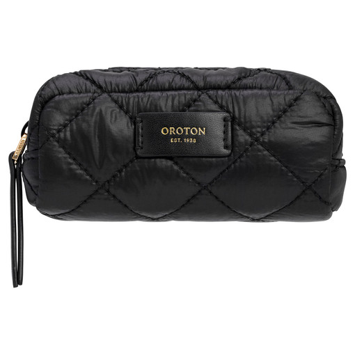 Oroton Cloud Pouchette in Black and Quilted Nylon for female