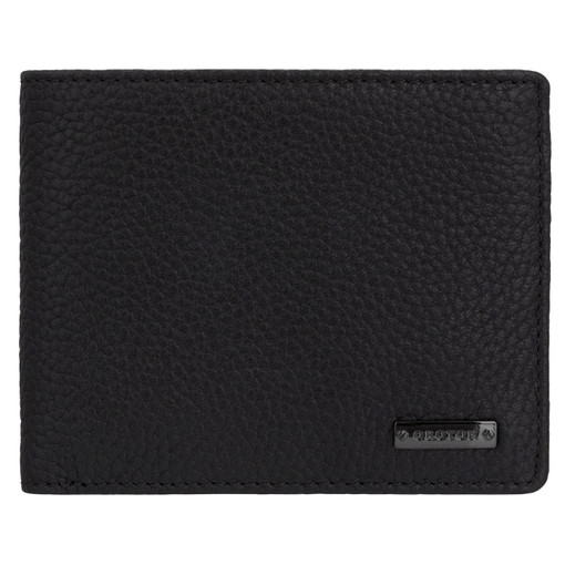 Oroton Otto 12 Credit Card Wallet in Black and Pebble Leather for male