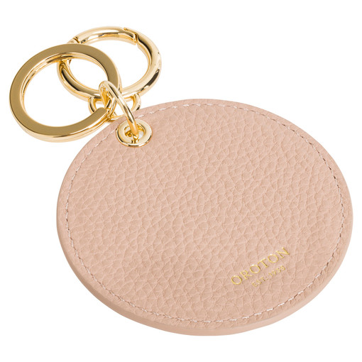 Oroton Lucy Mirror Keyring in Praline and Pebble Leather/Plastic Mirror for female