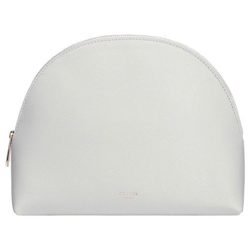 Oroton Inez Large Beauty Case in Cloud Grey and Shiny Soft Saffiano for female