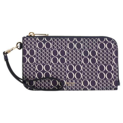 Oroton Harriet Signature Phone Wristlet Wallet in Midnight Blue and null for female