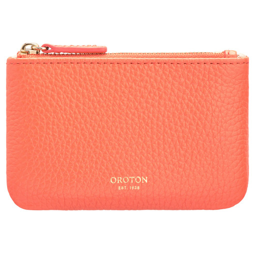 Oroton Avalon Mini Pouch in Apricot and Pebble Leather for female