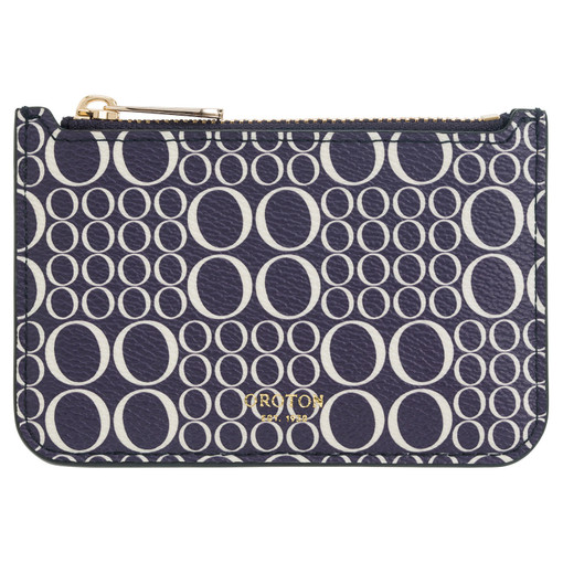 Oroton Harriet Signature Credit Card Holder in Midnight Blue and null for female