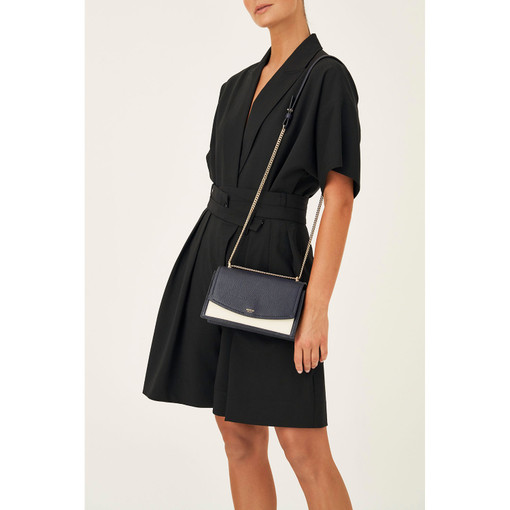 Oroton Atlas Clutch in Midnight Blue and Pebble Leather for female