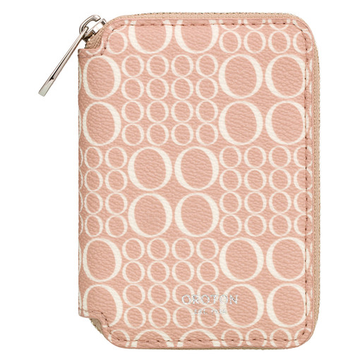 Oroton Harriet Signature Keyring Zip Pouch in Biscuit and Print Saffiano PVC for female