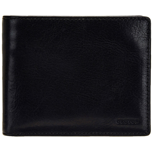 Oroton Katoomba 12 Credit Card Wallet in Black and Vegetable Tanned Leather for male