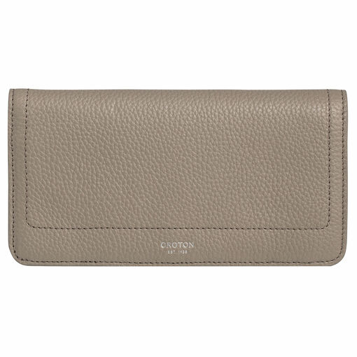 Oroton Lucy Fold Over Wallet in Stone and Pebble Leather for female