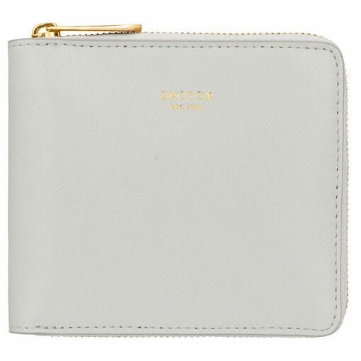 Oroton Inez Small Zip Wallet in Cloud Grey and null for female