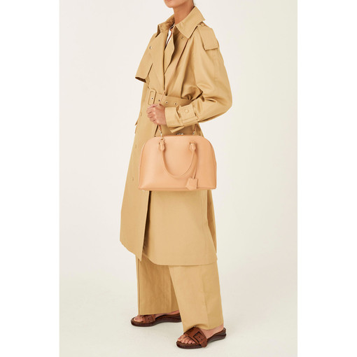 Oroton Inez Griptop in Caramel and Shiny Soft Saffiano for female