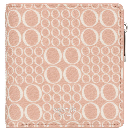 Oroton Harriet Signature Mini Wallet in Biscuit and Print Saffiano Texture PVC for female